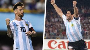 Leo Messi y Diego Maradona.