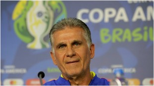 Carlos Queiroz, en conferencia de prensa.