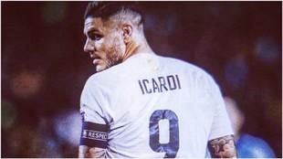 Mauro Icardi puede durante el último partido de la Serie A 2018/19.