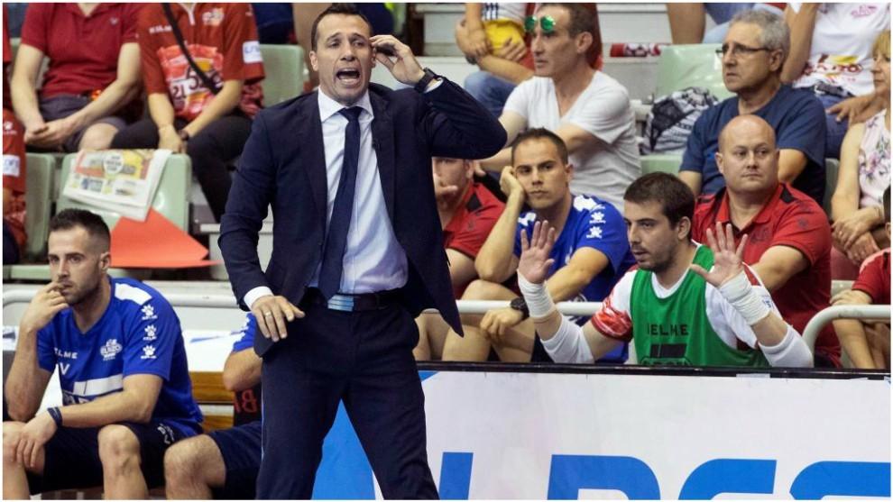 Diego Giustozzi durante uno de los partidos de la final
