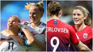 Alemania y Noruega se clasifican a cuartos de final del Mundial...