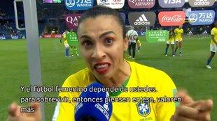 El emotivo mensaje de Marta que aplaude el mundo del fútbol