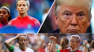Guerra entre Megan Rapinoe, la capitana de Estados Unidos, y Trump:...