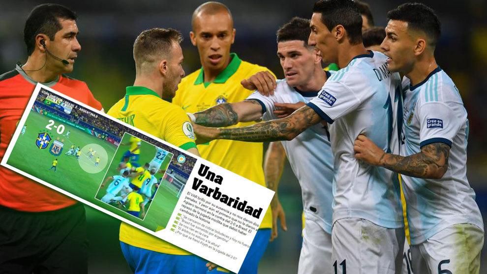 Resultado de imagen para brasil 2 argentina 0 copa america