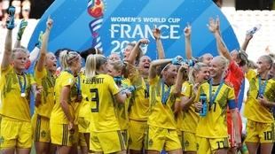 Suecia derrotó 2-1 a Inglaterra en el juego por el bronce en el...