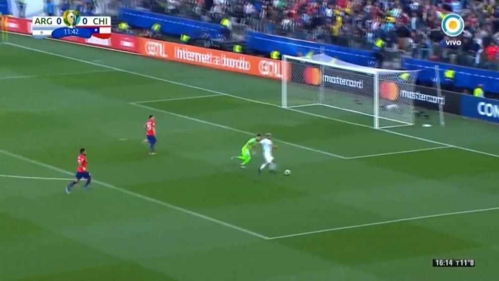 El gol de Agüero ante Chile