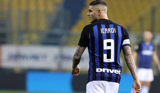 Icardi, durante un partido con el Inter.