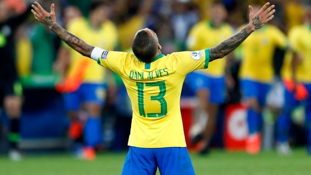 Dani Alves, el capitán campeón de la Copa América 2019