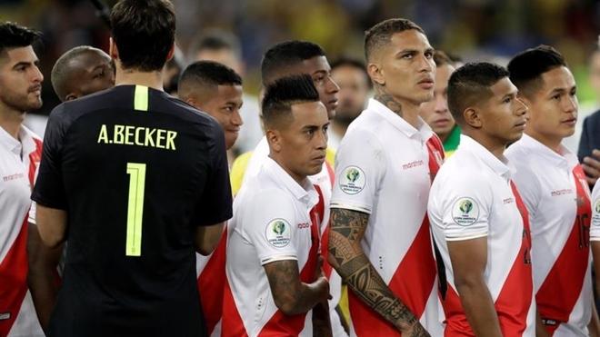 Paolo Guerrero, delantero goleador de Perú en la Copa América.