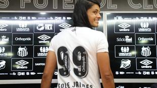 Soledad Jaimes regresa al Santos de Brasil
