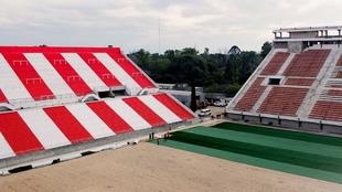 Las obras avazan en el Estadio Jorge Luis Hirschi