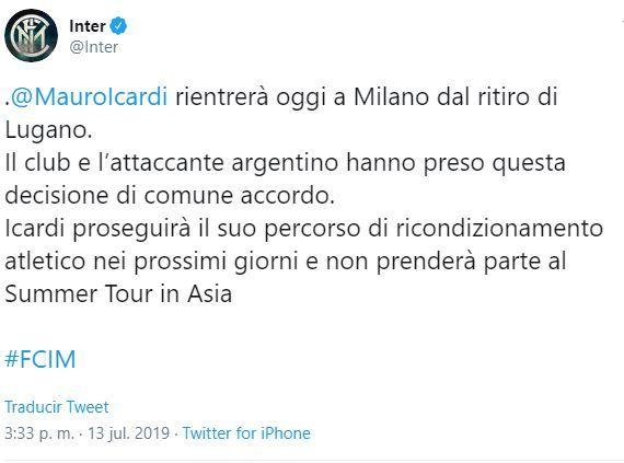 Comunicado del Inter