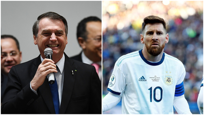 Bolsonaro menosprecia a Messi por su crítica en la Copa América