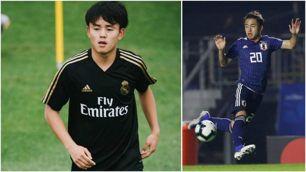 Kubo y Abe, nuevos jugadores de Real Madrid y Barcelona.