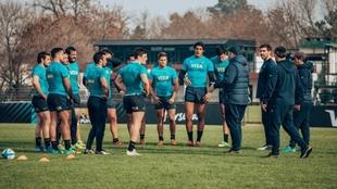 Los Pumas trabajan en la semana previa al duelo ante Nueva Zelanda.