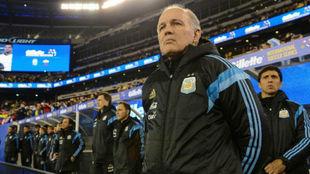 Alejandro Sabella, entrenador de la Selección Argentina en el Mundial...
