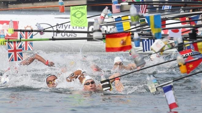 Arteta y Moreno representaron a Argentina en los 10km de Aguas Abiertas en el Mundial de Natación.