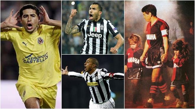 Maradona, Riquelme, Trezeguet y Tevez, entre los pases 'bomba' del fútbol argentino.
