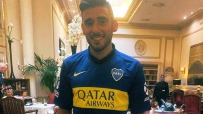 Toto Salvio se mostró con la camiseta de Boca y sólo restaría la firma del contrato.