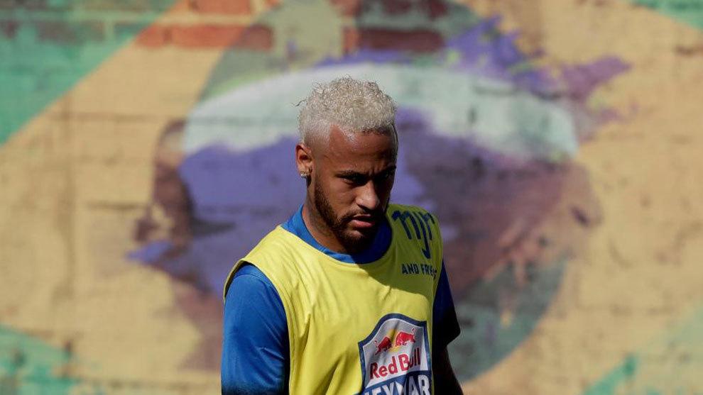 Neymar, en un entrenamiento.