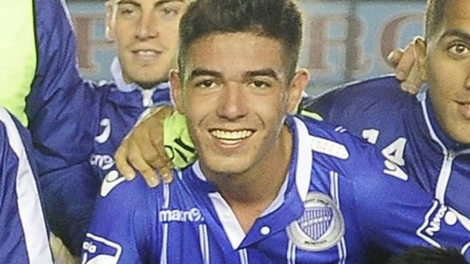 Luciano Pizarro, futbolista detenido en Mendoza.