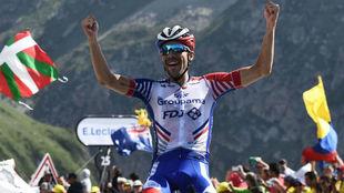 Thibaut Pinot, ciclista francés ganador de la etapa 14.