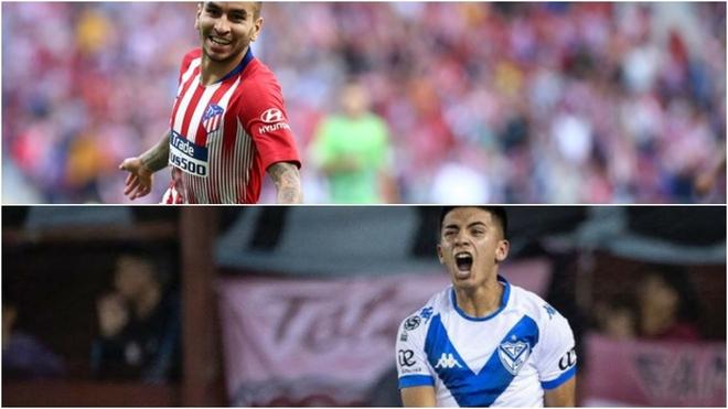 Correa y Almada, futbolistas pretendidos por estos días.