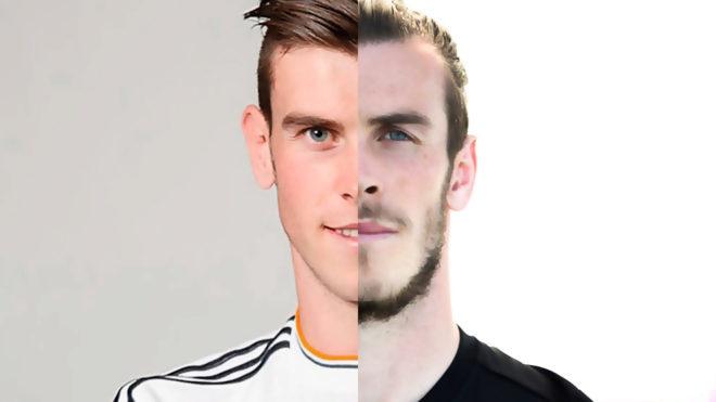 Gaeth Bale, en un montaje entre 2013 y 2019