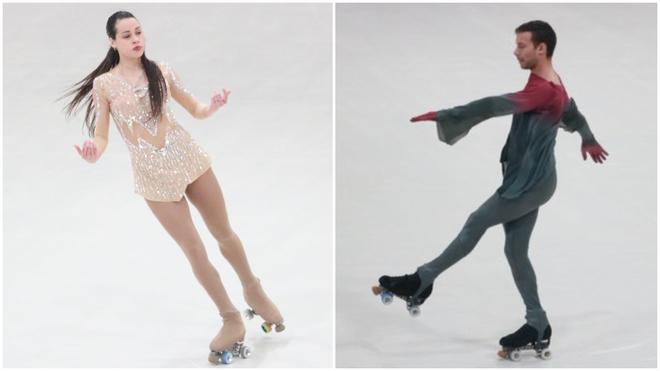 Giselle Soler y Juan Sánchez brillan en el inicio del patinaje...