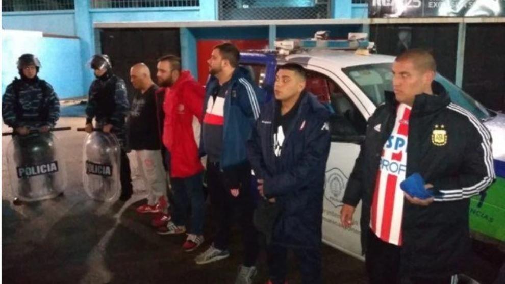 Los barras de Unión fueron detenidos en Avellaneda