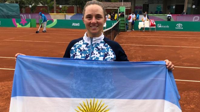 La tenista rosarina Podoroska ganó la medalla de oro