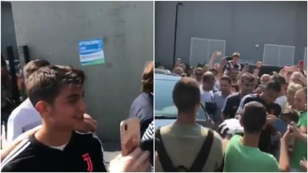Paulo Dybala, en su llegada al centro médico de la Juventus.