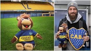 El oso Jano y Daniele De Rossi