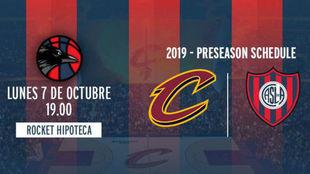 San Lorenzo jugará contra Cleveland Cavaliers