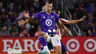 Zlatan, en un partido de la MLS.