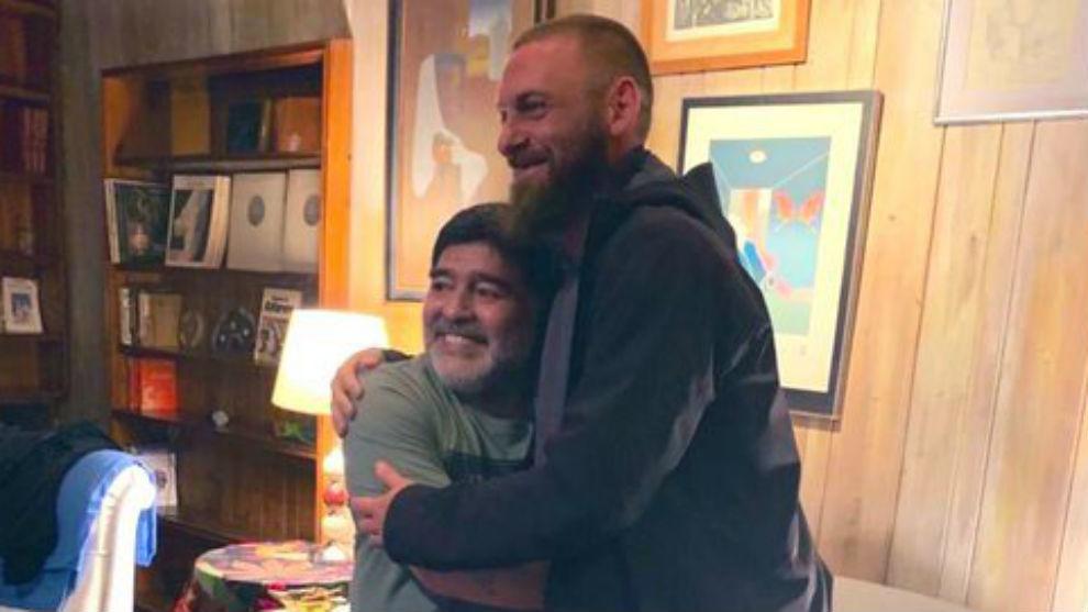 De Rossi y una visita muy especial a Maradona
