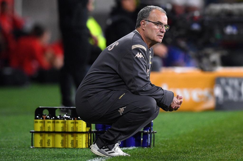 Bielsa, durante un partido con el Leeds.