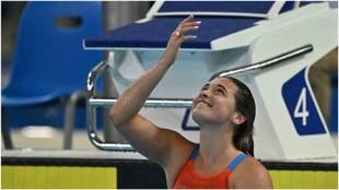 Delfina Pignatiello, durante los Juegos Panamericanos.