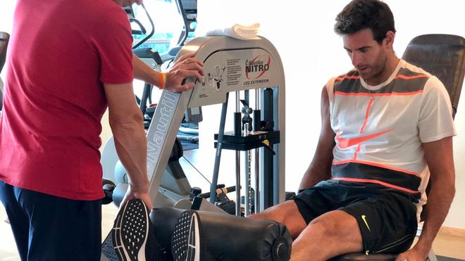 Juan Martín del Potro continúa su recuperación tras una lesión en...