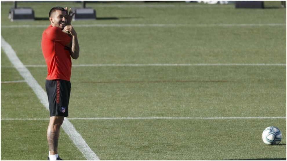 Correa durante un entrenamiento.