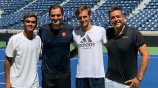 Federer ya entrena en el US Open