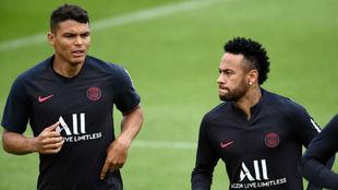 Thiago Silva y Neymar.