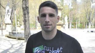 Calleri posa para Marca en su etapa del Alavés.