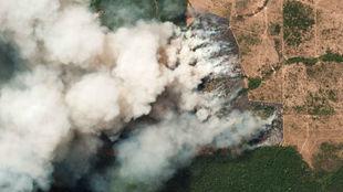 El humo de los incendios en el Amazonas llega al norte de Argentina