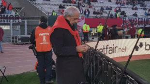 D'Onofrio en el partido ante Cerro Porteño