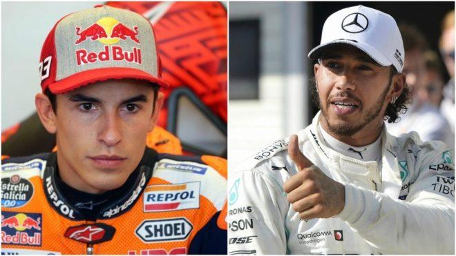 """Márquez reta a Hamilton: """"Un cara a cara, primero en un F1 y después..."""