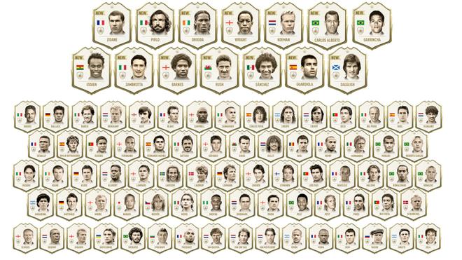 EA Sports revela todos los íconos del FIFA 20 Ultimate Team