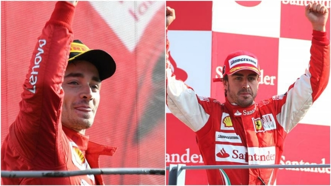 Charles Leclerc, de récord: emula a Fernando Alonso en Monza
