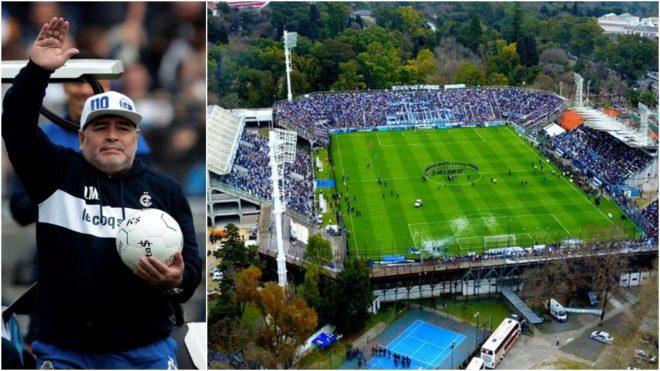 Diego Armando Maradona, flamante director técnico de Gimnasia y...