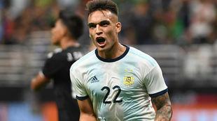 Lautaro Martínez ilusiona en la Selección Argentina